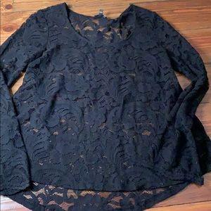 Express black long sleeve blouse small
